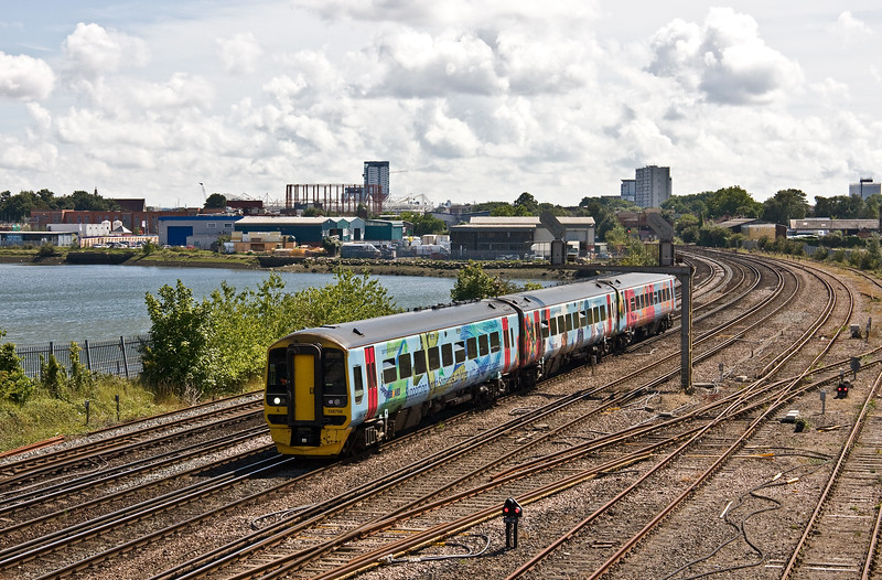 158798, 10.48 Great Malvern-Brighton (cancelled between Havant and Brighton, restarting, St Denys, Southampton, 1-8-17 (36min late).