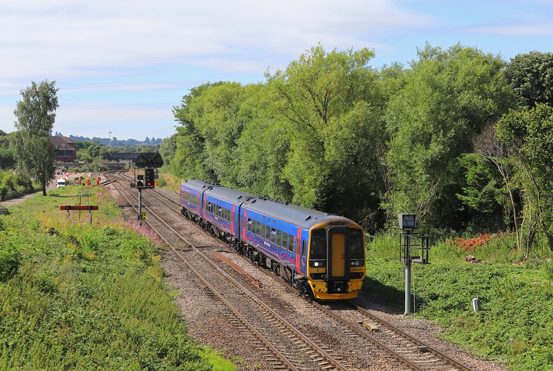 158958, 09.23 Portsmouyth Harbour-Cardiff Central, Hawkeridge Junction, Westbury, 2-8-18.