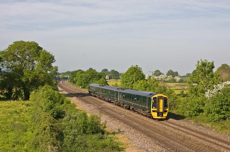 158961, 08.36 Taunton-Bristol Parkway, Cogload, 21-5-18.