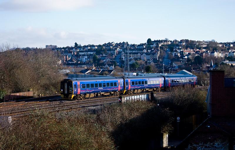 158958, 08.41 Weston-supr-Mare-Cardiff Central, Newport, 4-2-14.