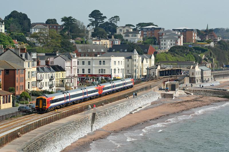 159/159002, 10.07 Paignton-Brighton, Dawlish, 06-5-06.
