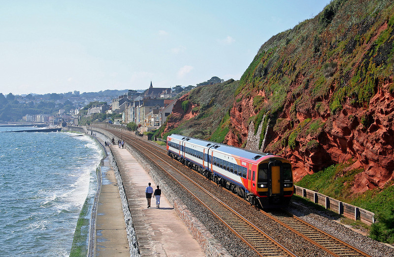 159101, eastbound, Dawlish, 20-9-08.