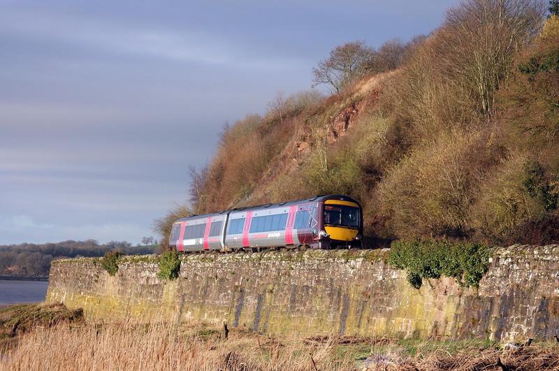 170112, 07.45 Cardiff Central-Nottingham, Hagloe crossing, near Blakeney, 14-2-11.