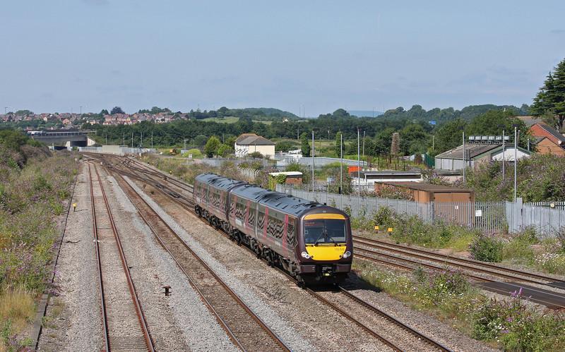170518/170116, 10.45 Cardiff Central-Nottingham,  Severn Tunnel Junction, 22-7-14.