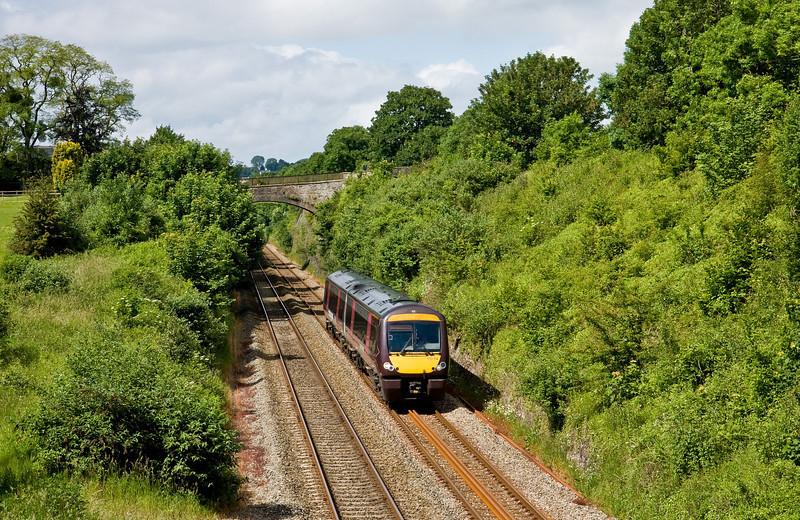 170114, 09.45 Cardiff Central-Nottingham, Sedbury Lane, Chepstow. 10-6-14.