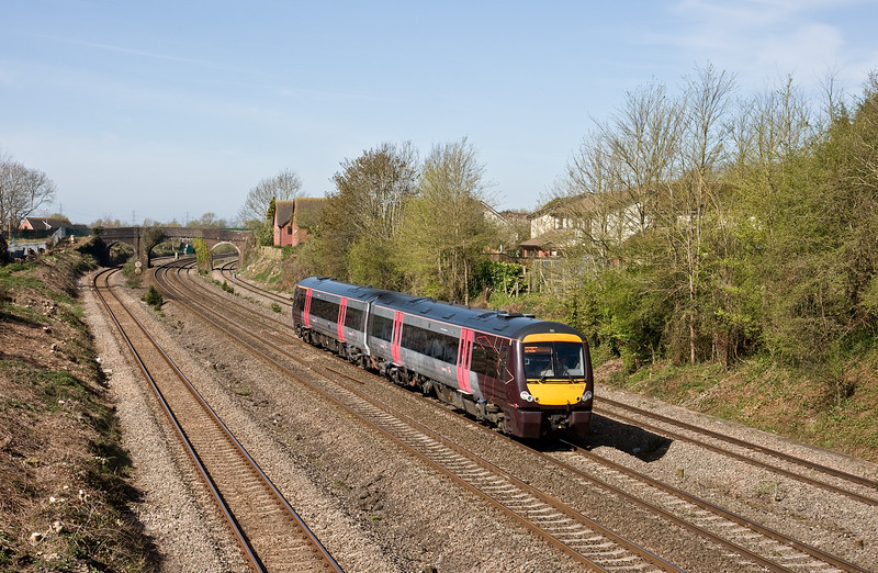 170116, 09.45 Cardiff Central-Nottingham, Undy, near Severn Tunnel Junction, 20-4-16.