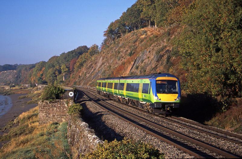 170635, 08.45 Cardiff Central-Nottingham, Gatcombe, near Lydney, 21-10-03.