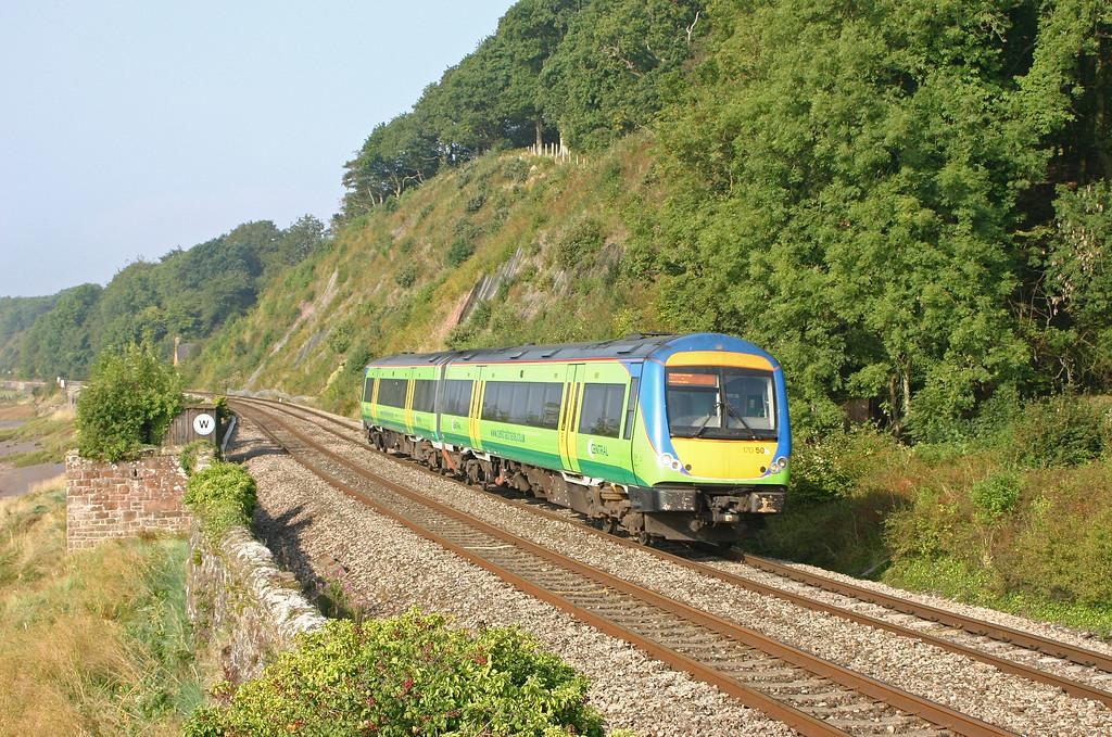170506, 08.45 Cardiff Central, Gatcombe, near Lydney, 9-9-04.