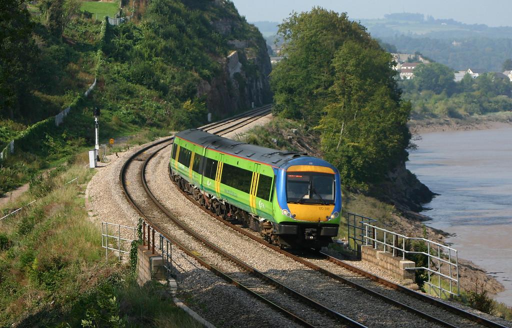 170518,Nottingham-Cardiff Central, Bulwark, Chepstow, 6-9-04.
