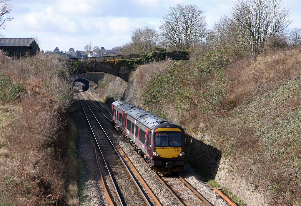 170519, 10.45 Cardiff Central-Nottingham, Sedbury Lane, Chepstow, 5-3-12.