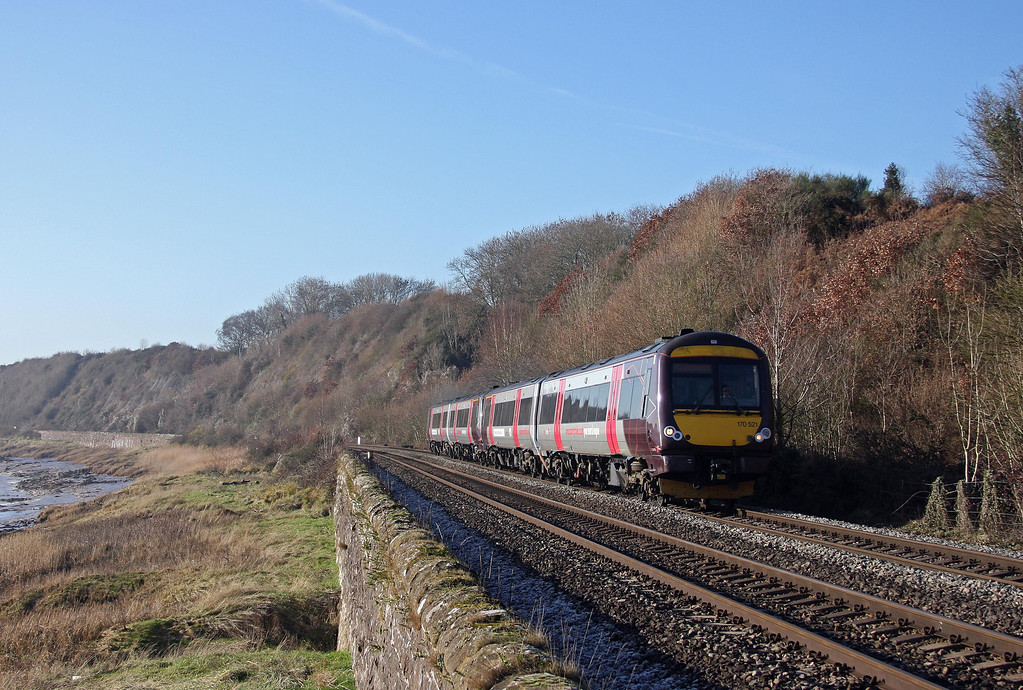 170521/170518, 10.45 Cardiff Central-Nottingham, Gatcombe, near Lydney, 19-1-11.