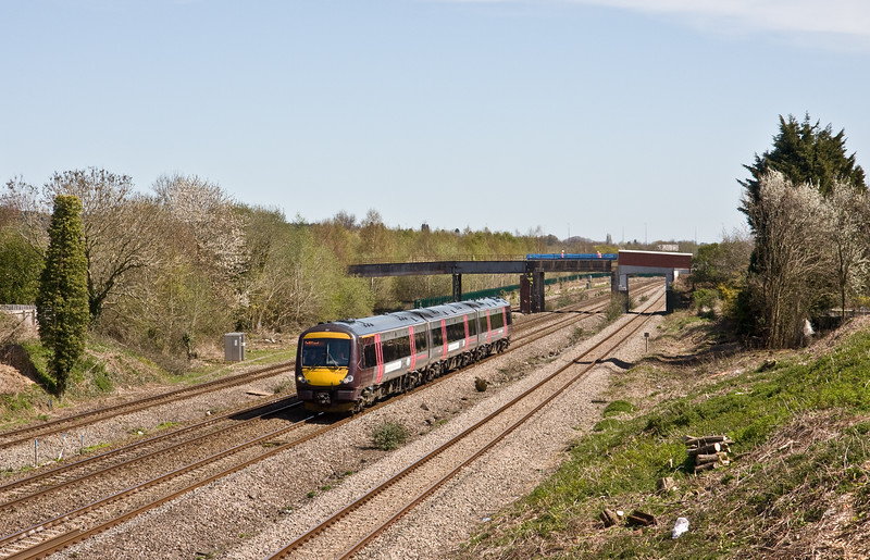 170637, 08.12 Nottingham-Cardiff Central, Undy, near Severn Tunnel Junction, 20-4-16.