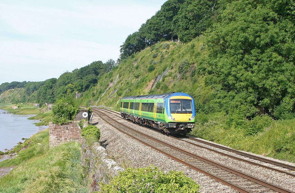 170509, 08.45 Cardiff Central-Nottingham, Gatcombe, near Lydney, 20-7-04.