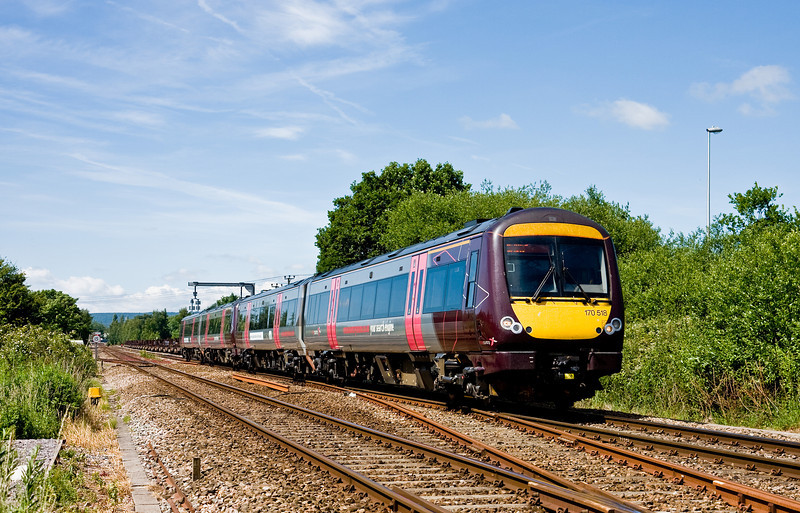 170518/170520, 10.45 Cardiff Central-Nottingham, passing Lydney Loops, 19-6-14.