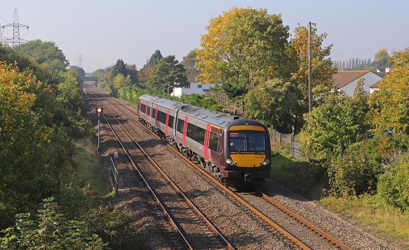 170636, 11.45 Cardiff Central-Nottingham, Portskewett, near Caldicot, 10-10-18.