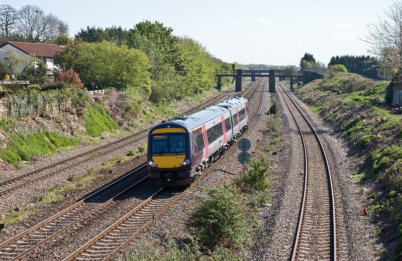 170521, 08.30 Birmingham New Street-Cardiff Central, Undy, near Severn Tunnel Junction, 4-5-16.