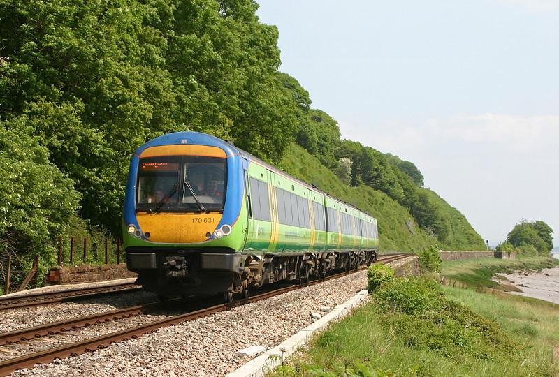 170631, Nottingham-Cardiff Central, Gatcombe, near Lydney, 18-5-04.