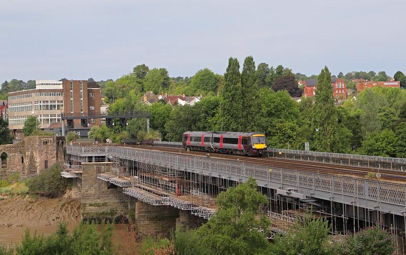 170113, 09.45 Cardiff Central-Nottingham, Usk Bridge, Newport, 26-7-18.