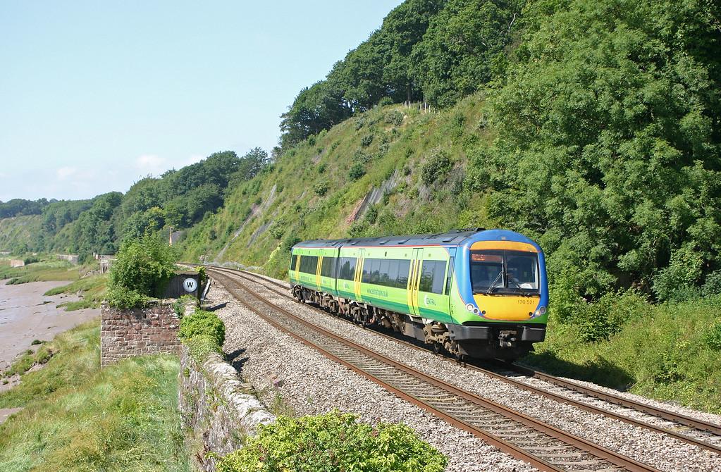170521, 10.45 Cardiff Central-Nottingham, Gatcombe, near Lydney, 10-8-04.