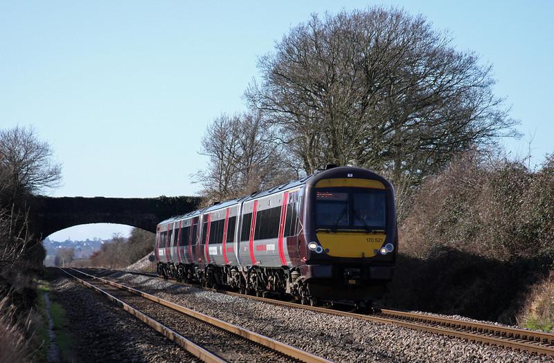 170521, 10.45 Cardiff Central-Nottingham, Woolaston, near Lydney, 14-2-11.