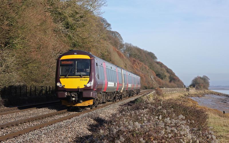 170105, 10.11 Nottingham-Cardiff Central, Gatcombe, near Lydney, 19-1-11.