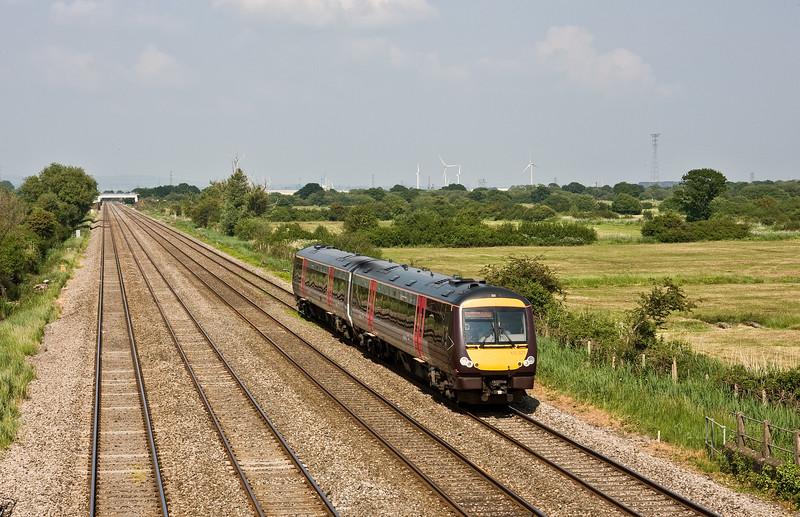 170521, 13.10 Nottingham-Cardiff Central, Coedkernow, near Newport, 8-6-16.