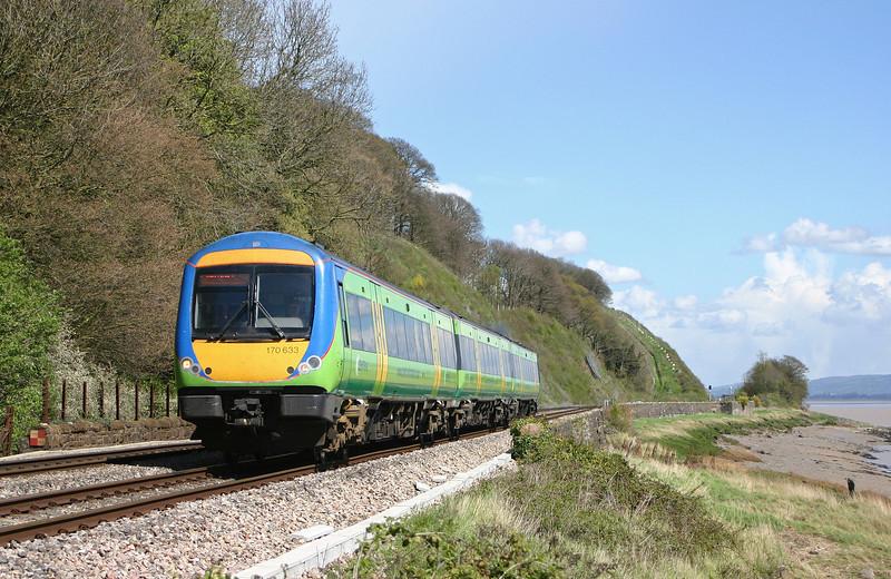 170633, Nottingham-Cardiff Central, Gatcombe, near Lydney, 19-4-04.
