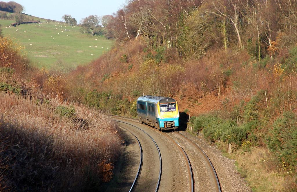 175010, 10.40 Holyhead-Llanelli, Llanvihangel Crucorney, near Abergavenny, 3-12-14.