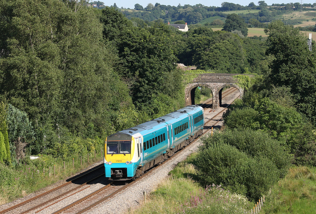 175110, northbound, Ponthir, near Newport, 23-7-12.