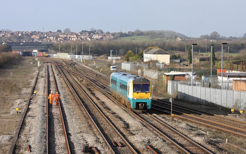 175011, 09.15 Maesteg-Cheltenham Spa, Severn Tunnel Junction, 30-1-13. 66503, 09.58 Cardiff Wentloog-Southampton.