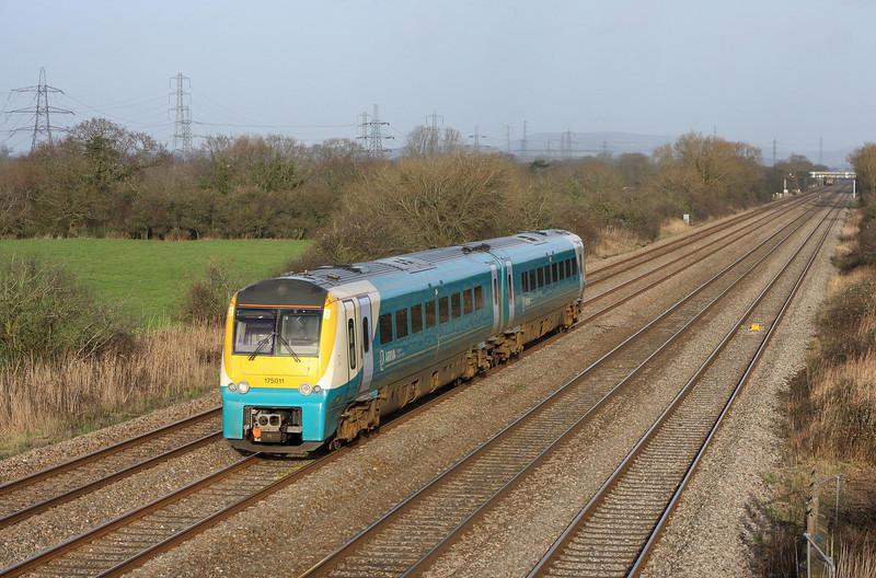 175011, 13.45 Cheltenham Spa-Maesteg, Coedkernow, near Newport, 30-11-13.