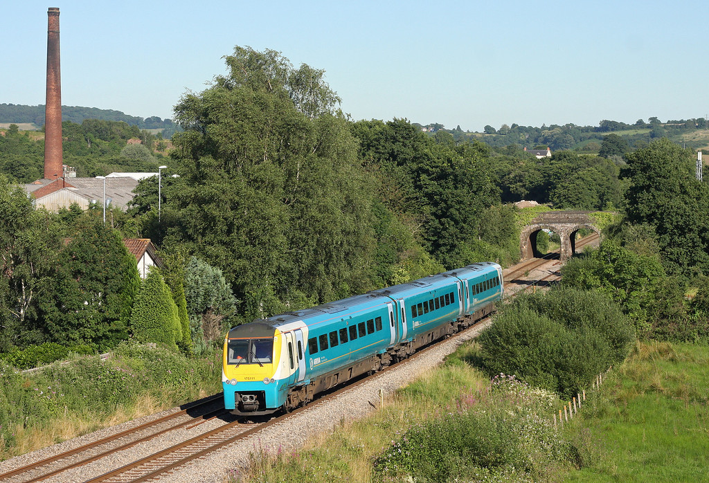175111, northbound, Ponthir, near Newport, 24-7-12.