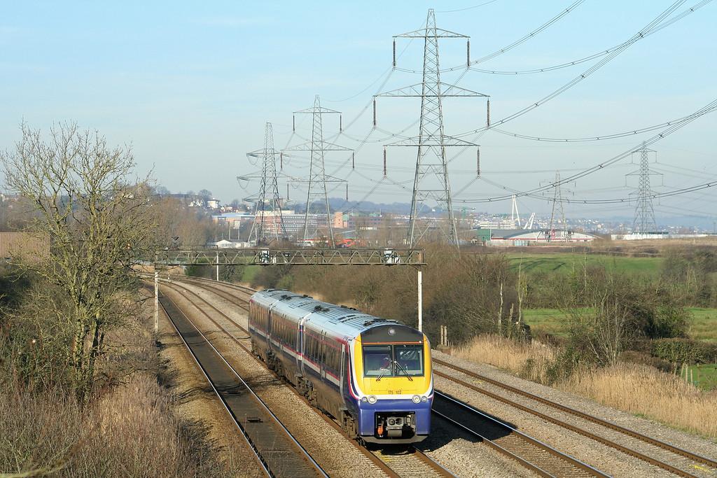 175102, Holyhead-Cardiff Central, Duffryn, near Newport, 9-2-08.