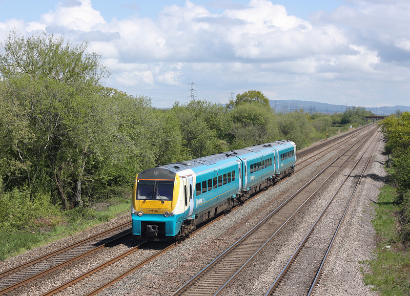 175106, westbound, St Mellons, Cardiff, 8-5-12.