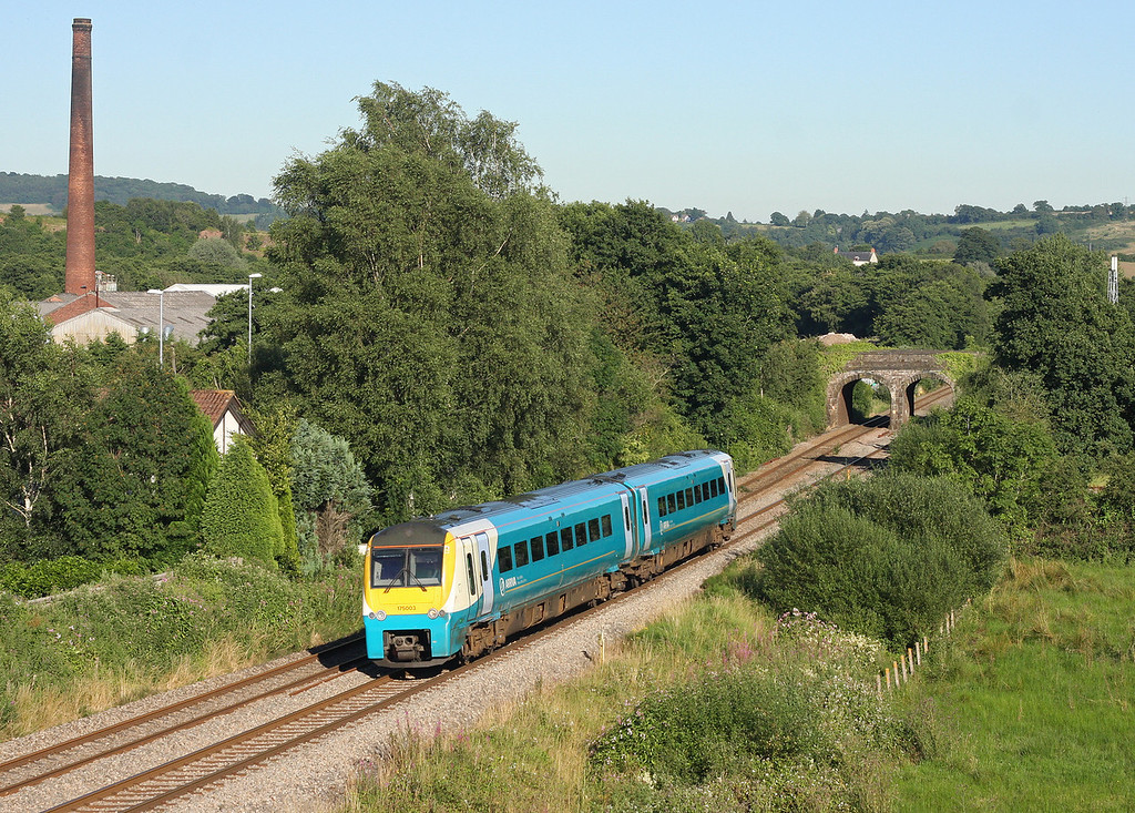 175003, northbound, Ponthir, near Newport, 24-7-12.