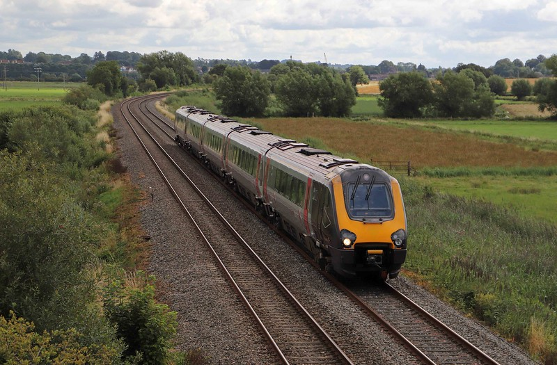 221139, 09.55 Bath Spa-Plymouth, Wick, near Langport, 9-8-21. Diversion caused by Bristol Temple Meads remodelling project.