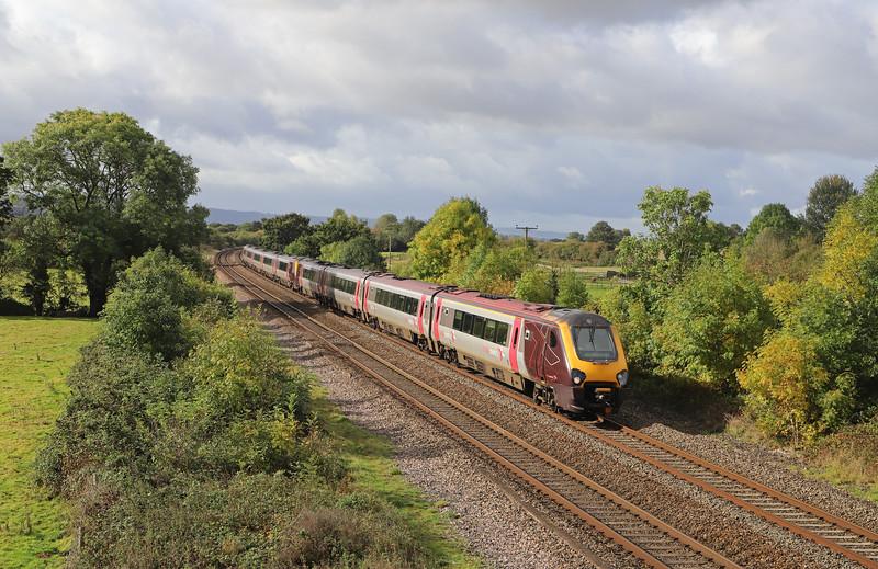 220016/221134, 09.24 Plymouth-Gloucester, Cogload Junctrion, near Taunton, 6-10-19.