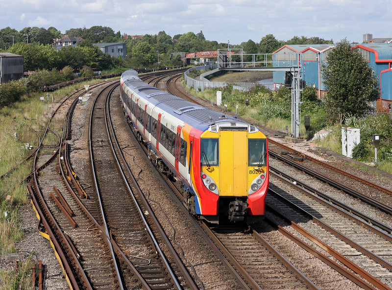 8001/8020, eastbound, Northam, Southampton, 28-8-12.