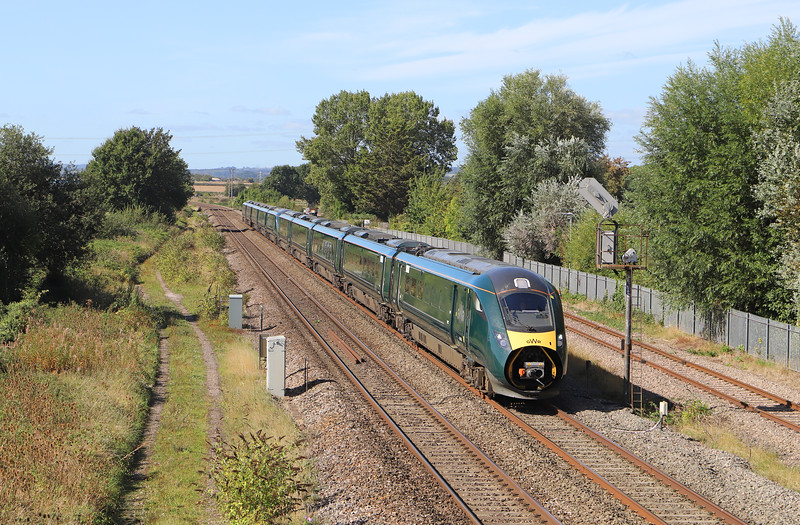 802022/802007, 07.41 Penzance-London Paddington, Norton Fitzwarren, near Taunton, 13-9-19.