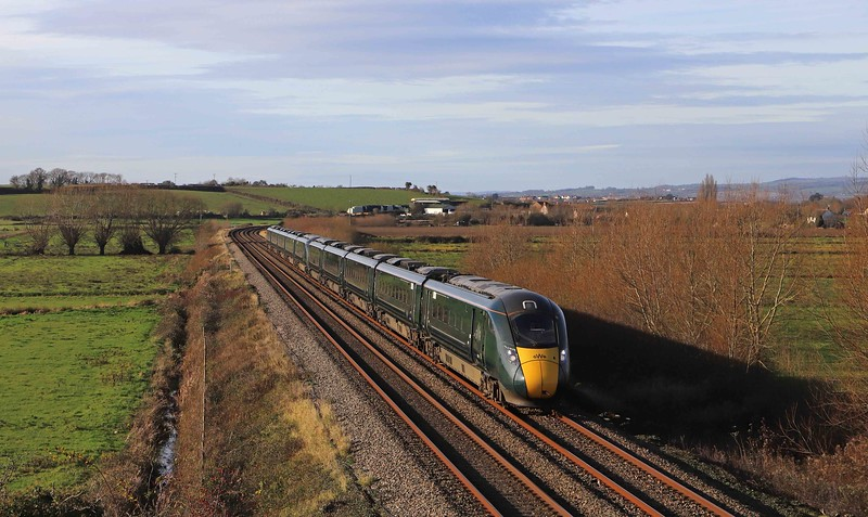 802019/802016, 08.15 Penzance-London Paddington, Wick, near Langport, 1-12-20.<br /> <br /> SHOW MORE