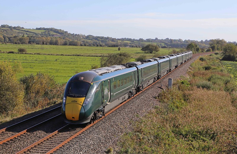 800313, 08.51 London Paddington-Penzance, Wick, near Langport, 27-9-20.