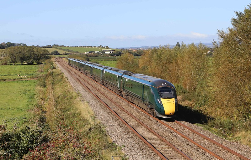 802113, 09.12 Plymouth-London Paddington, Wick, near Langport, 27-9-20.