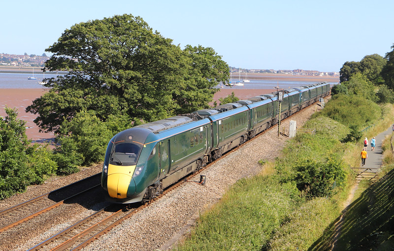 802015/802011, 14.00 Penzance-London Paddington, Powderham, near Exeter, 4-7-19.