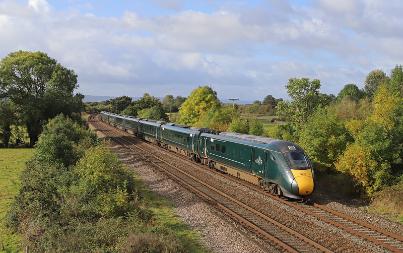 802103, 08.37 Plymouth-London Paddington, Cogload Junction, near Taunton, 6-10-19.