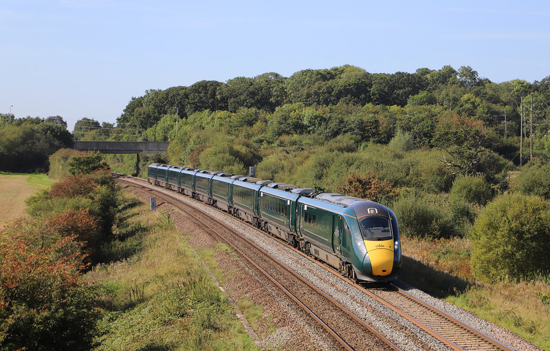 802106, 06.47 Penzance-London Paddington, Berkley Lane, Berkley, near Frome, 18-9-19.