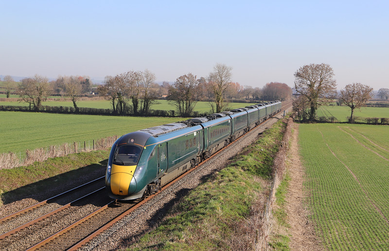 800314, 10.03 London Paddington-Taunton, Edington, near Westbury, 26-2-19.