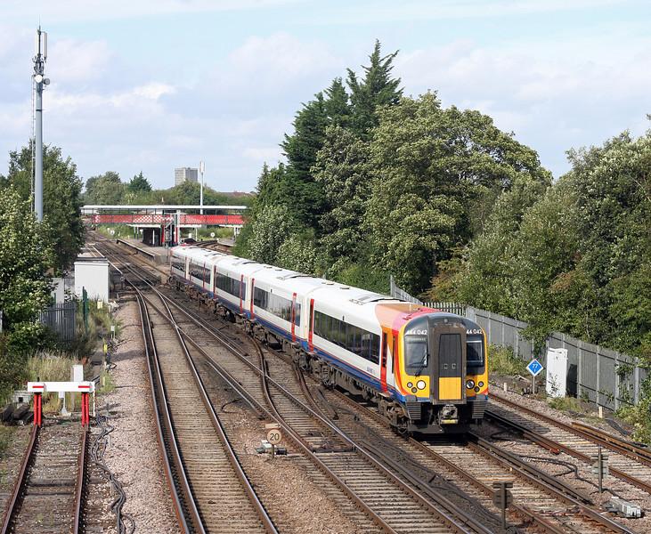 444042, southbound, St Denys, Southampton, 28-8-12.