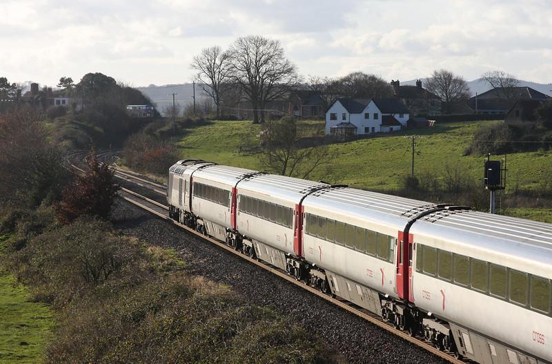 HST, 06.08 Edinburgh-Plymouth, Rewe, near Exeter, 17-12-09.