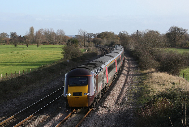 43301/43, 06.00 Leeds-Plymouth, Creech St Michael, near Taunton, 3-12-09.