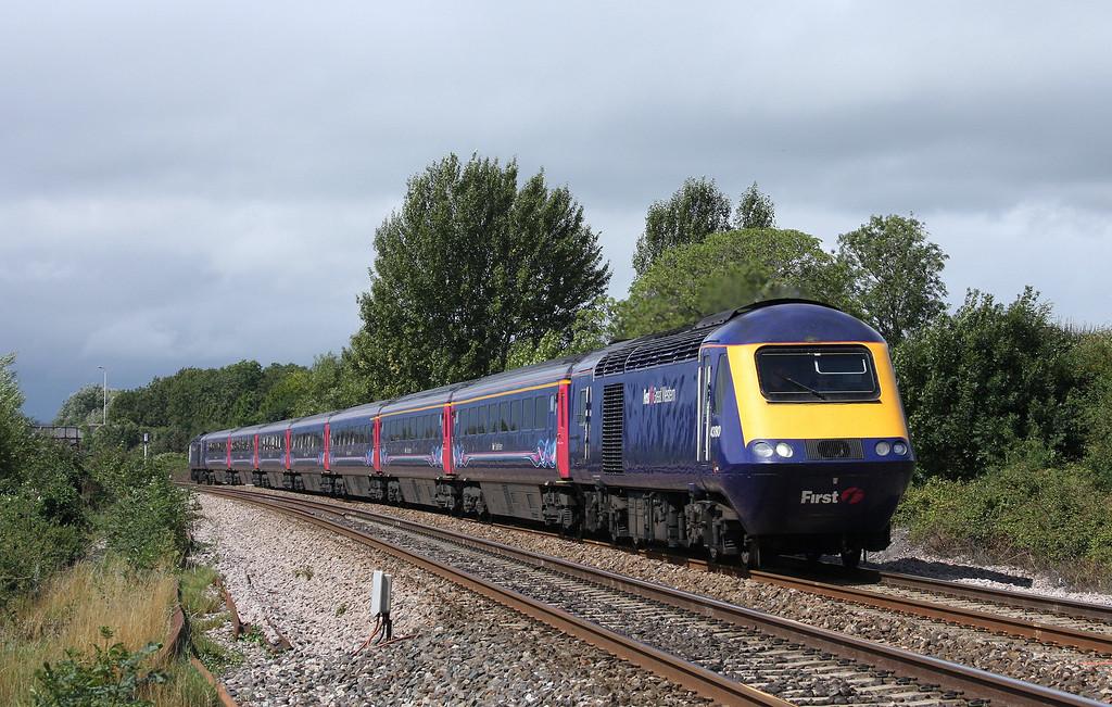 43180/43154, eastbound, Bathpool, Taunton,  20-8-10.